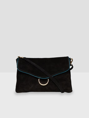 Leather bag black.