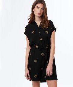 Printed dress black.