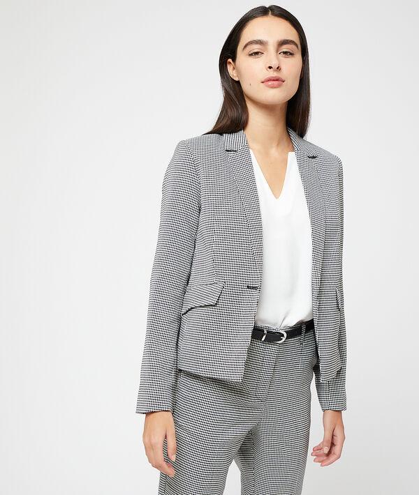 Houndstooth printed  blazer