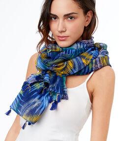 Printed scarf blue.