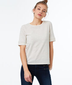 Striped t-shirt ecru.