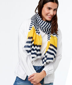 Striped scarf yellow.