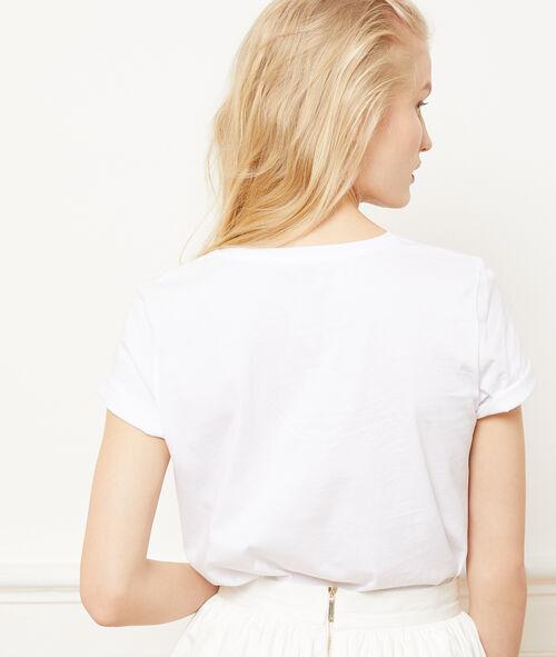 """100% cotton t-shirt with text print """"à la folie"""""""