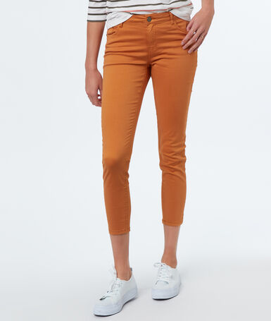 7/8-length slim-fit trousers ocre.