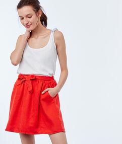 Skirt with belt geranium.