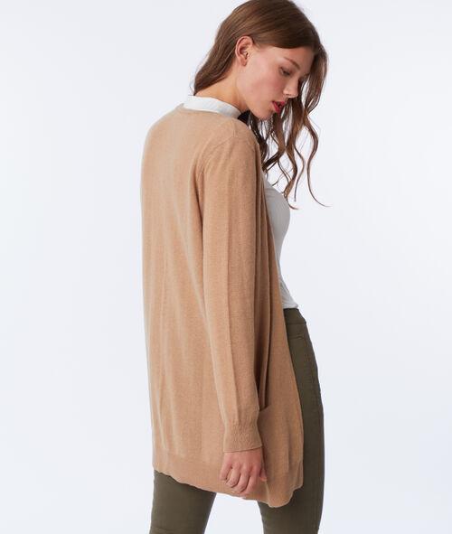 Cashmere longline cardigan