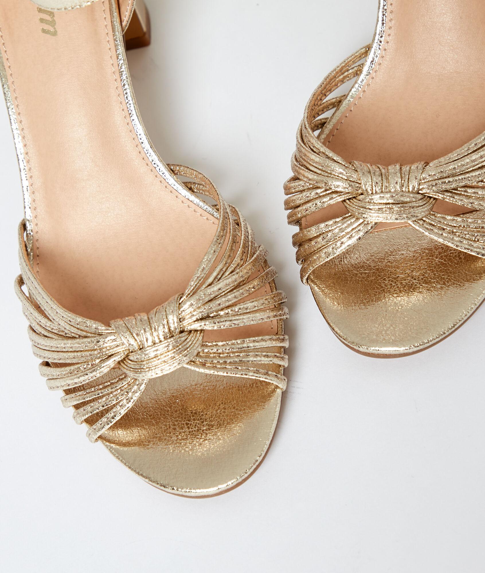 Sandales métallisées à talons DORE ETAM