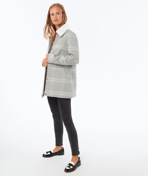 Textured checkered coat