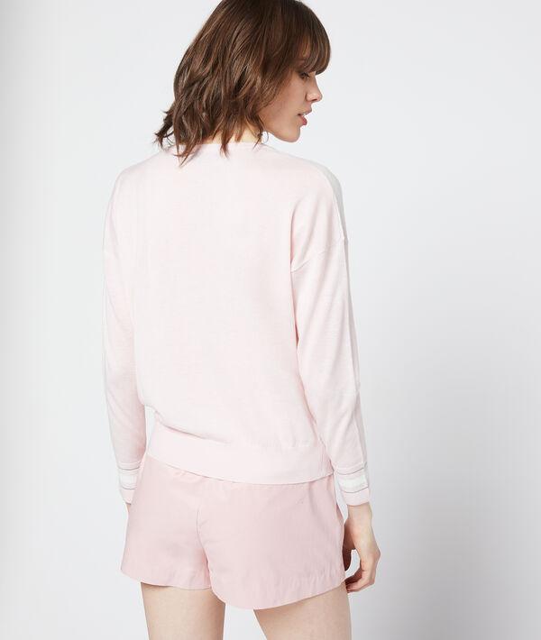 Patchwork print jumper