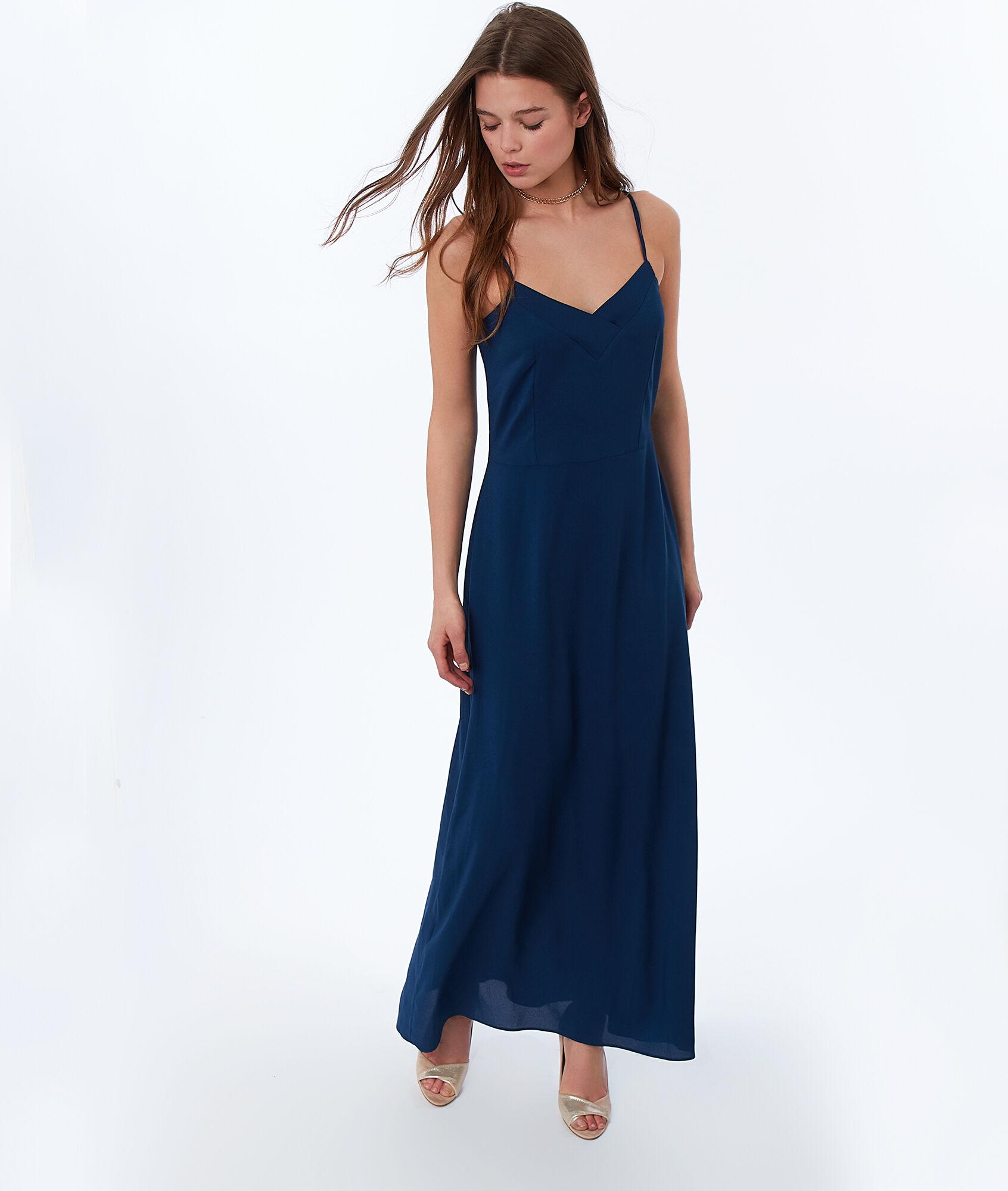 Robe longue bleu marine 123