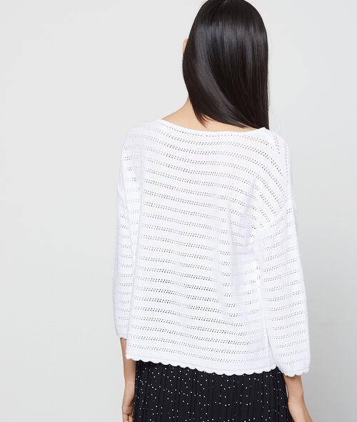 Open knit jumper