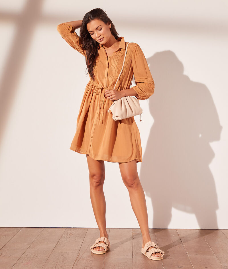 Short dress with openwork detail