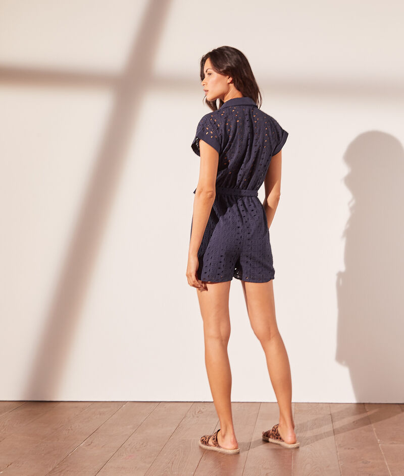 Playsuit with british embroidery