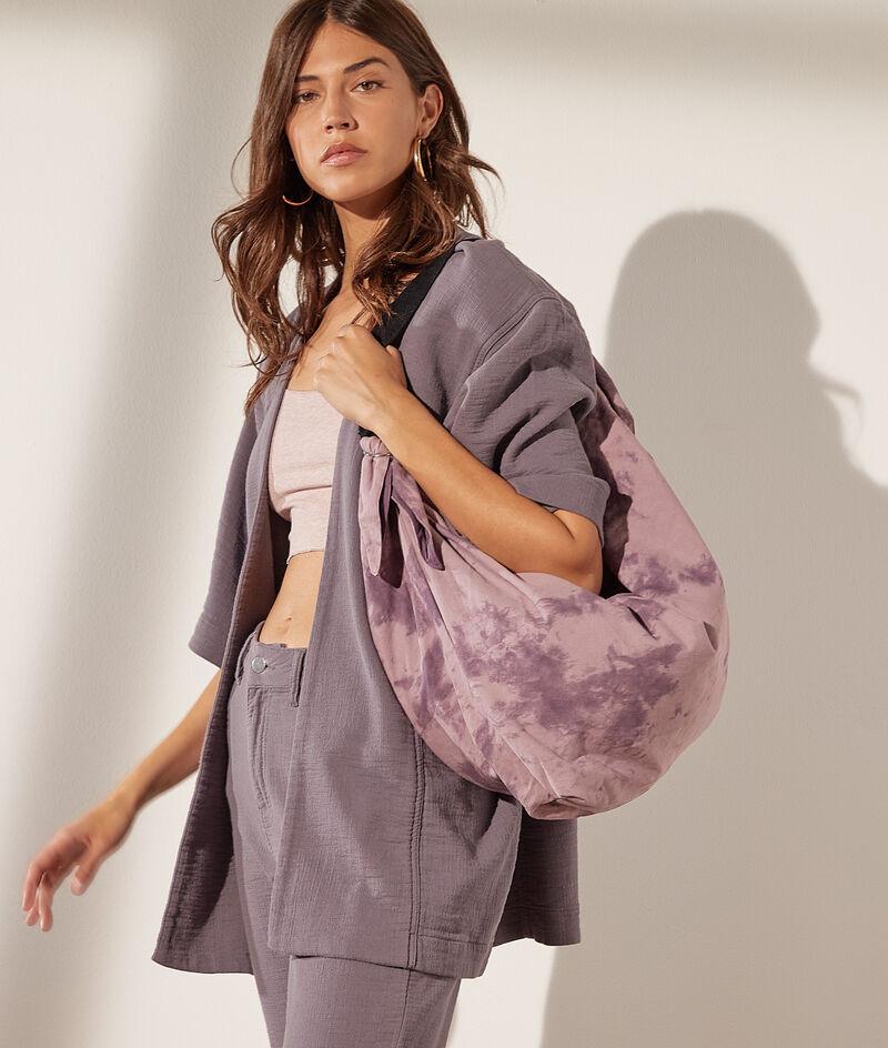 Tie-dye messenger bag