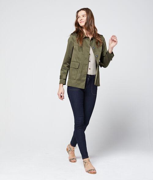 Button through cropped jacket