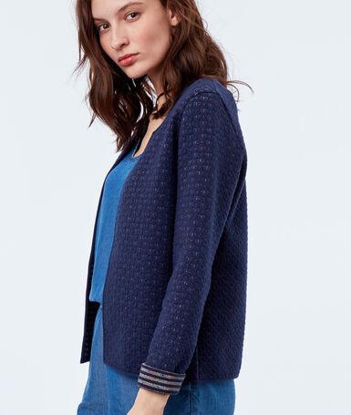 Jacket navy blue.