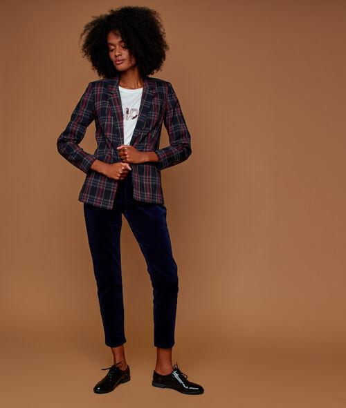 Velvet trousers 7/8