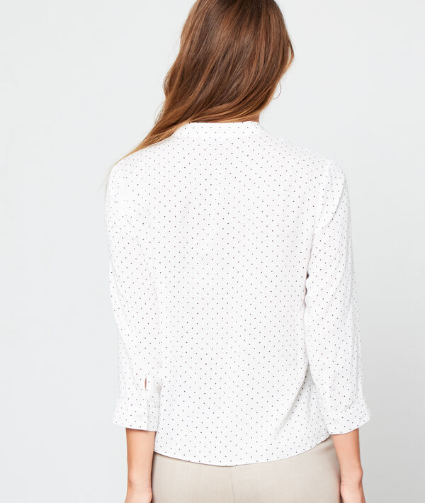 Round neck shirt in dots