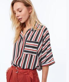 Striped shirt off-white.