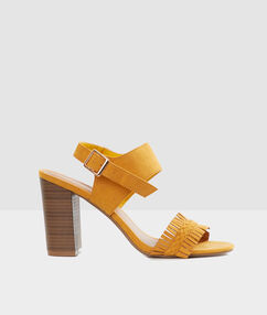 Heeled sandals ochre.