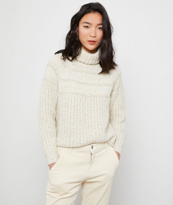 Maxi knit turtleneck jumper