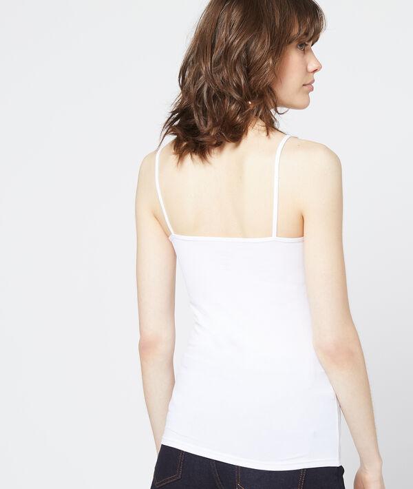 Lace neckline tank