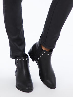 Studded boots black.
