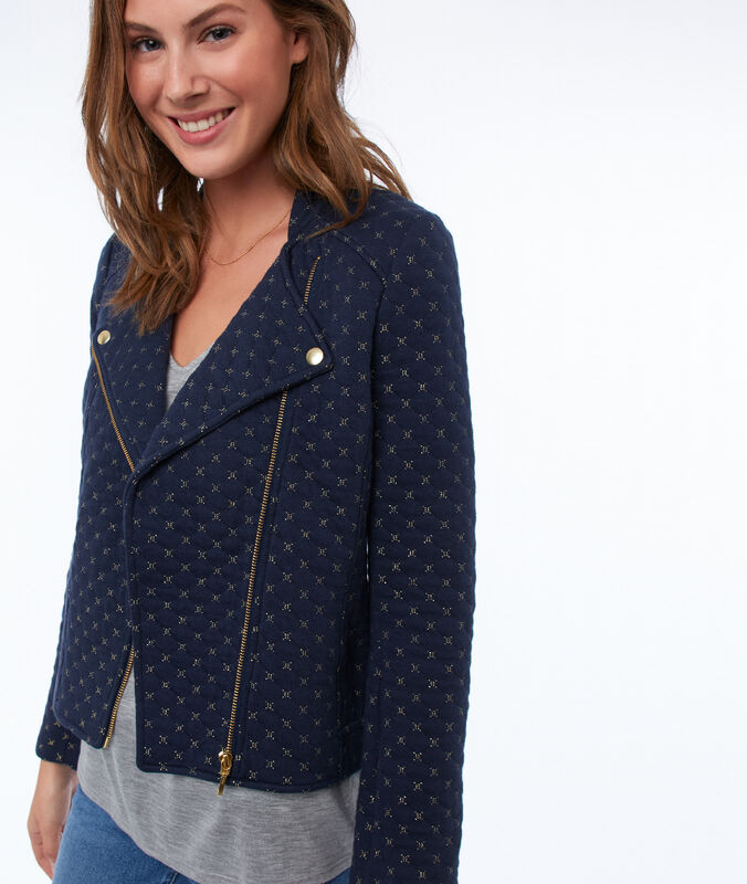 Zipped jacket navy blue.