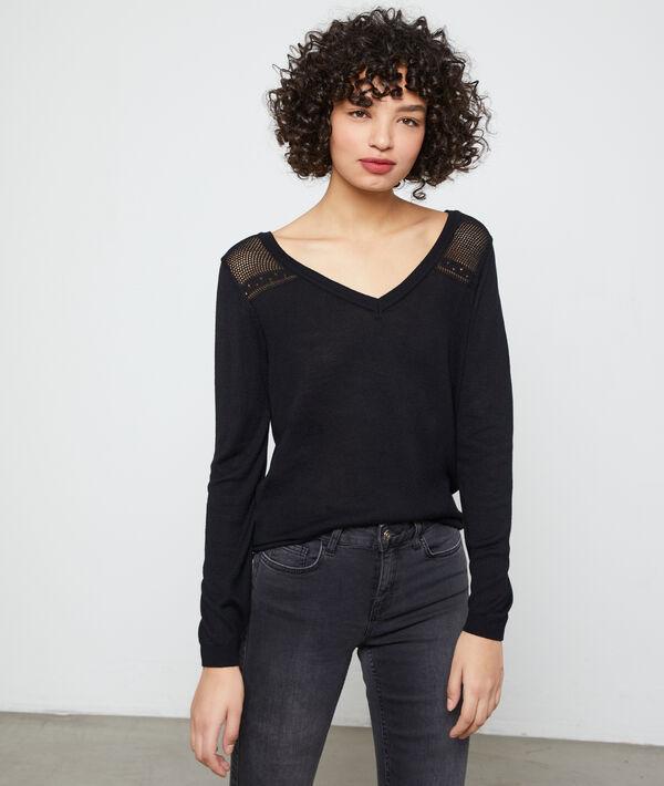 Open back jumper, lace details
