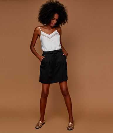 Tencel® skater skirt black.