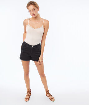 Denim shorts anthracite gray.