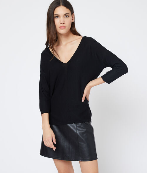 Suéter con la espalda escotada y de encaje