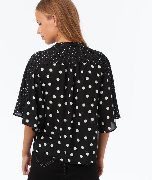 Polka-dot printed blouse
