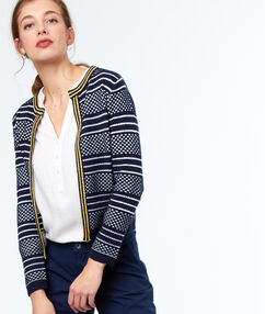 Cardigan navy blue.