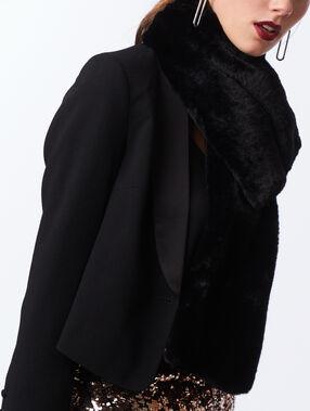 Bufanda forro pelo negro.