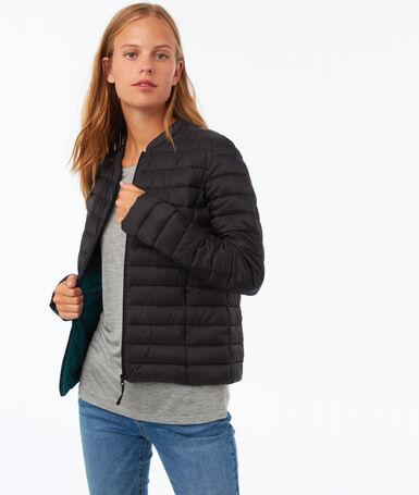 Light down jacket black.