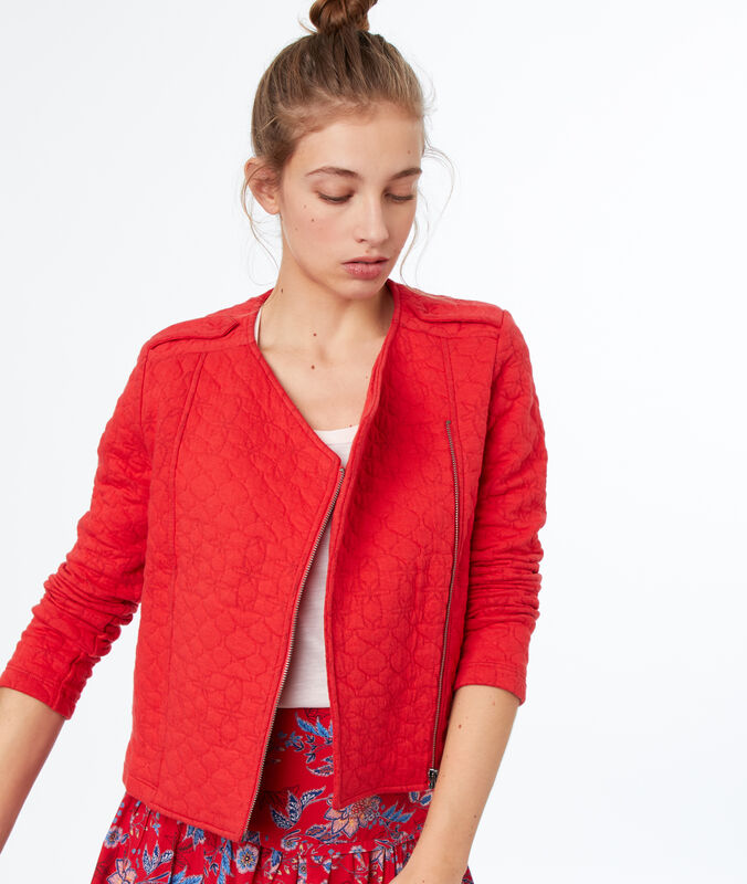 Quilted jacket red.