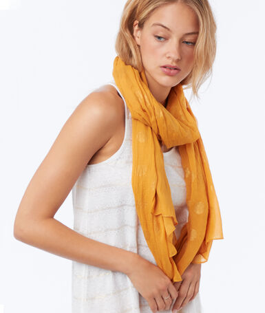 Polka dot scarf honey yellow.