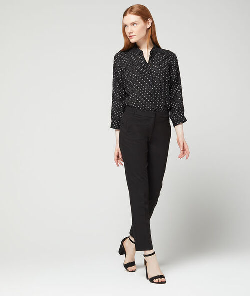 Plain slimline pants