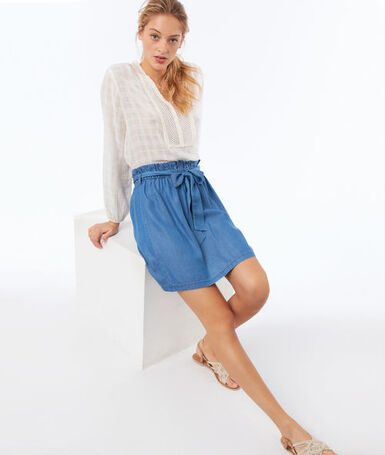 Tencel® skirt medium faded blue.