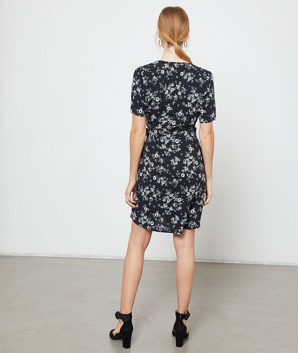 Wrap dress in a floral print