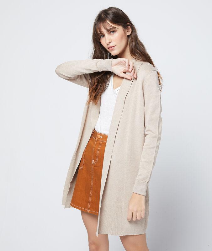 Long cardigan beige.
