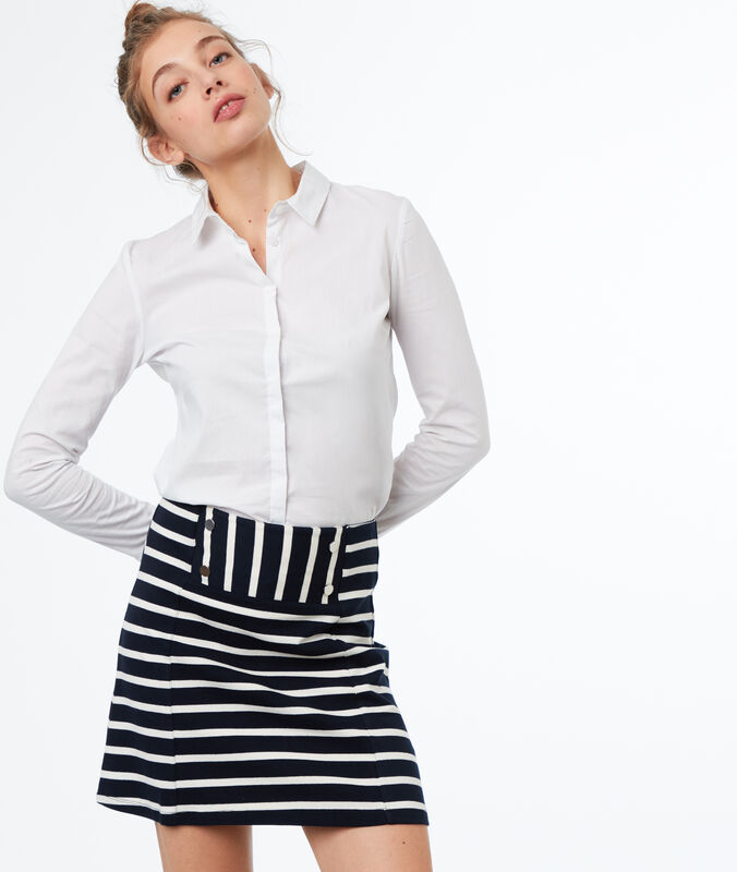 Striped skirt navy blue.