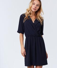 Tie waisted dress navy blue.
