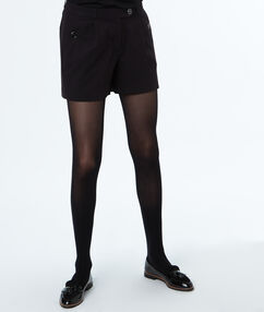 Buttoned shorts black.