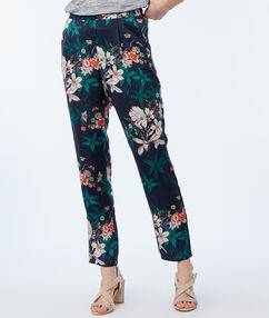 Printed pants black.