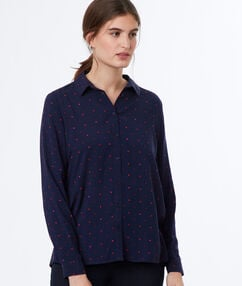 Shirt navy blue.