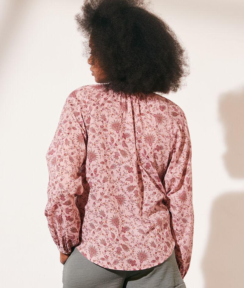 Cotton floral print blouse