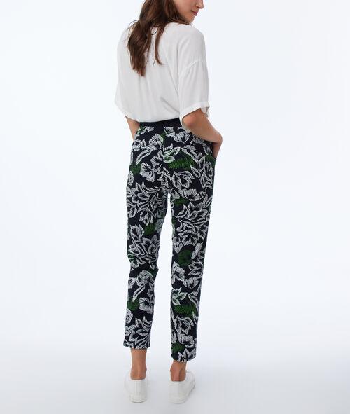 Printed slimline pants