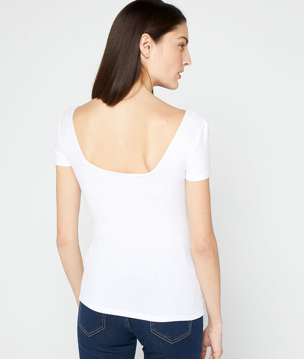 Ribbed top with low cut back